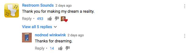 Restroom Sounds comment on laser cut Vin Diesel ham sandwich video
