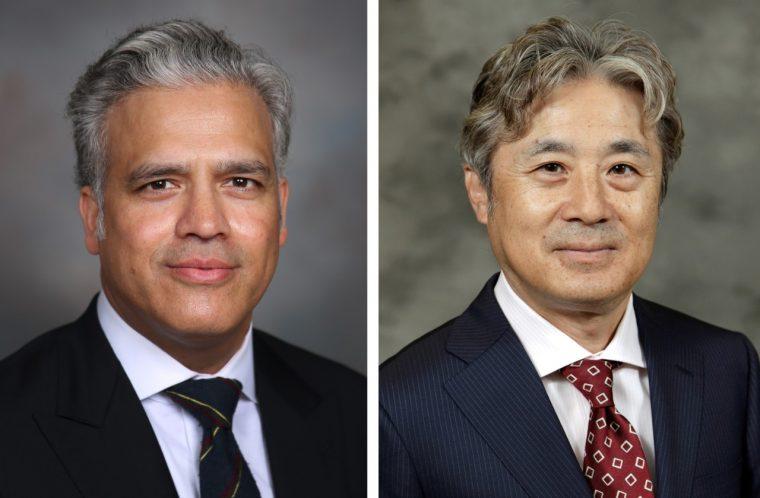 Suheb Haq of General Motors (left) and Tomomi Kosaka of Honda