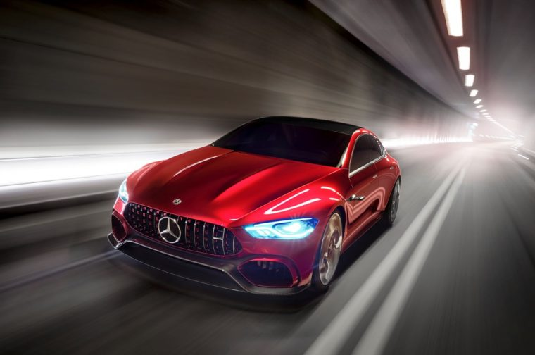 The Mercedes-AMG GT Concept made its world debut at the 2017 Geneva International Motor Show