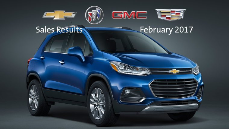 General Motors February 2017 sales results