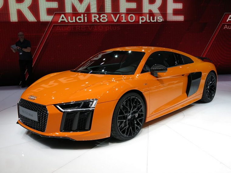 2016 Audi R8 with front license plate