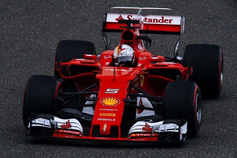 2017 Chinese Grand Prix - Sebastian Vettel in the Ferrari