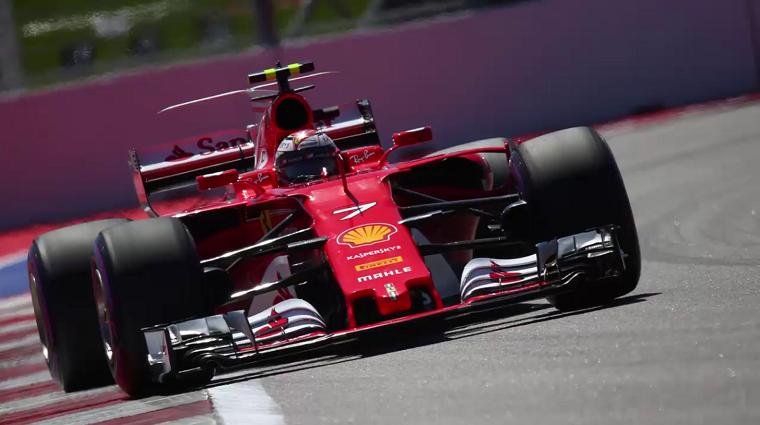 Kimi Raikkonen in the 2017 Ferrari F1 car