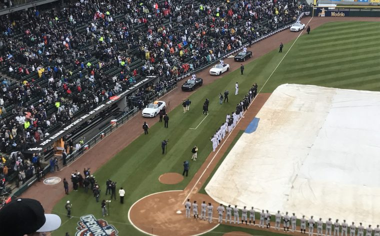 Ford Mustang parade on White Sox opening day 2017