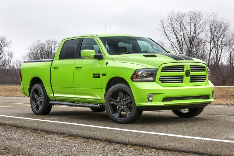 Ram Adds Sublime Lime Green and Blue Streak Color Schemes ...