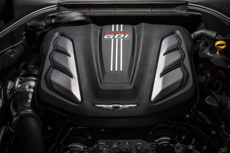 2018 Genesis G80 Sport turbocharged V6 engine details transmission
