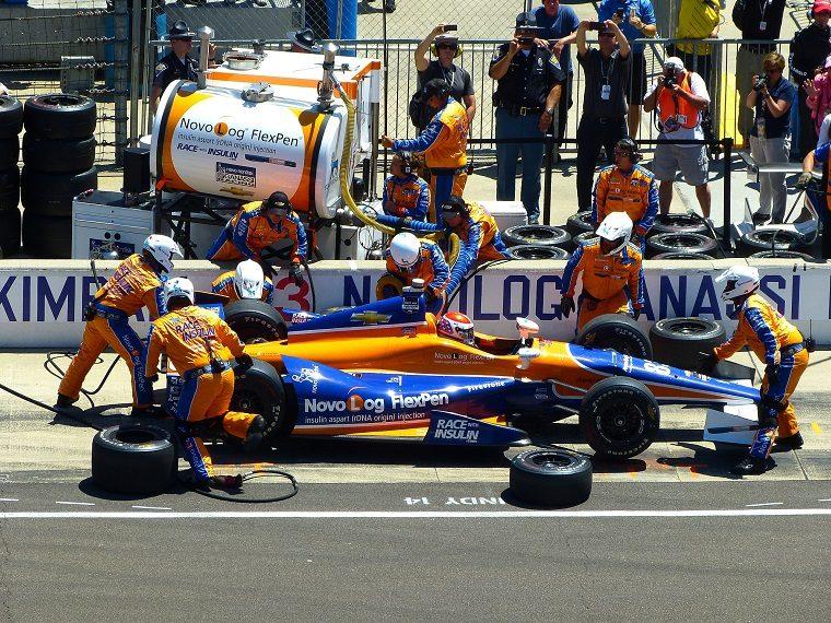 Charlie Kimball at 2014 Indy 500
