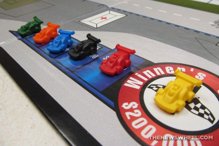Cleveland Detroit Grand Prix Racing Board Game Review Mayfair Games car motorsports components
