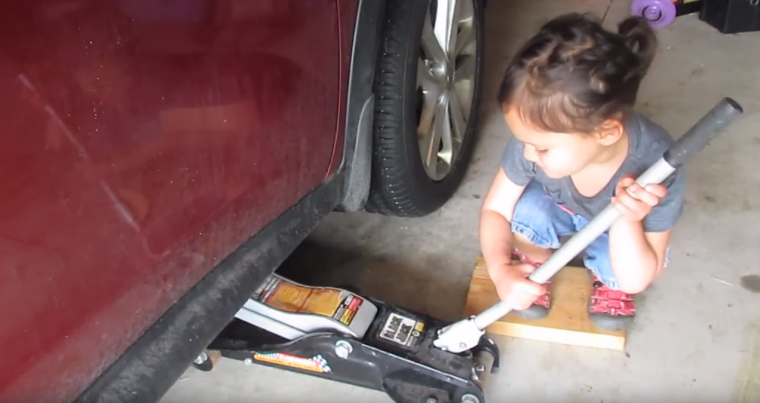 Little How To Girl Oil Change Video