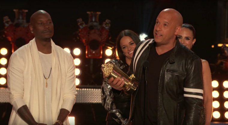 Vin Diesel and Cast MTV Generation Award The Fast and the Furious
