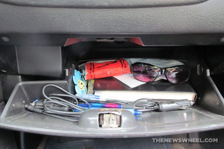 car glove compartment box storage contents origin history