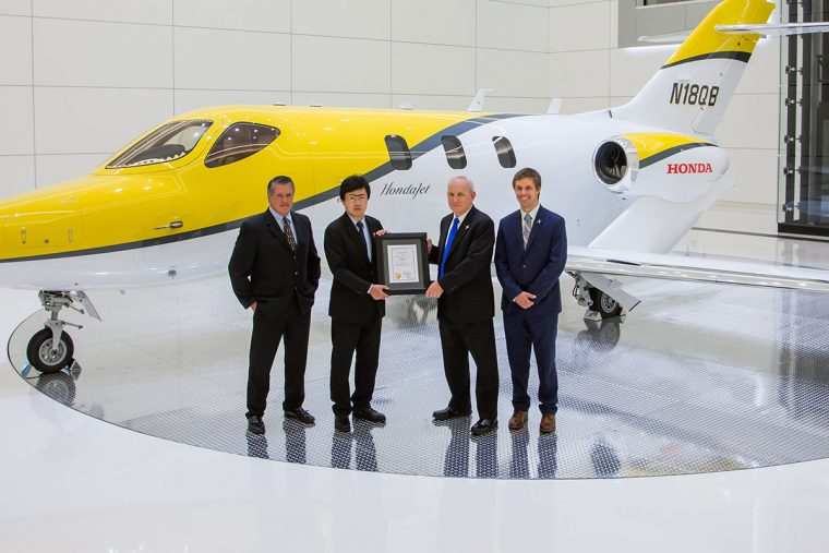 Honda Aircraft Company receives Canadian Type Certification for the HondaJet.