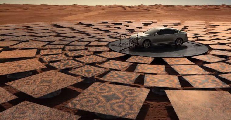 Hyundai Azera engine sounds Cymatics experiment commercial