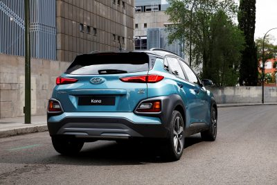 Hyundai Kona compact SUV new crossover vehicle model photos rear design