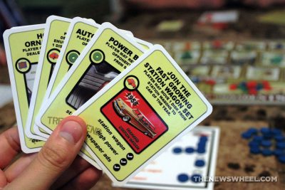 Last of the Independents car history board game review Numbskull picture cards