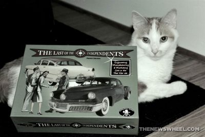 Last of the Independents car history board game review Numbskull picture obligatory cat