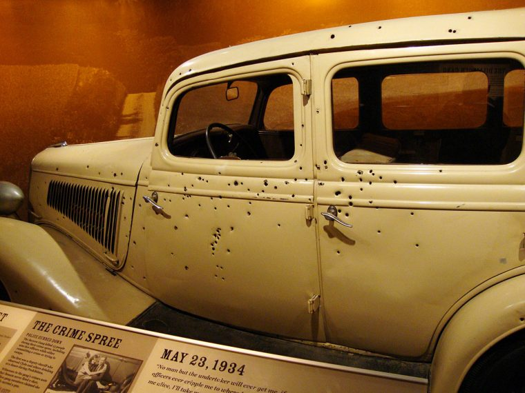 Bonnie and Clyde Death Car