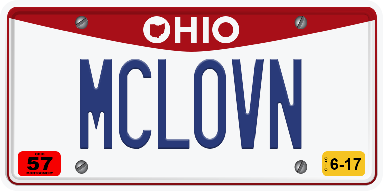 TNW Funny hilarious vanity license plate messages MCLOVN