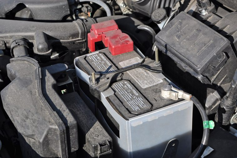 car engine and battery