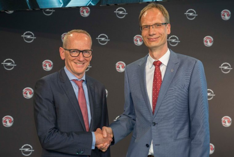 Dr. Karl-Thomas Neumann and New Opel CEO Michael Lohscheller