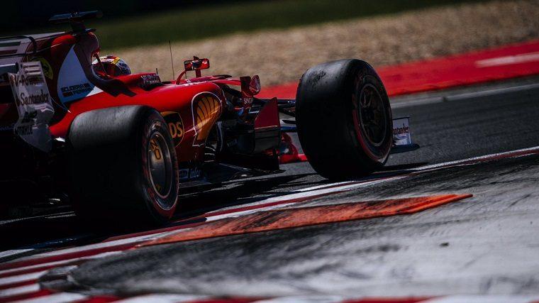 Sebastian Vettel in his Ferrari