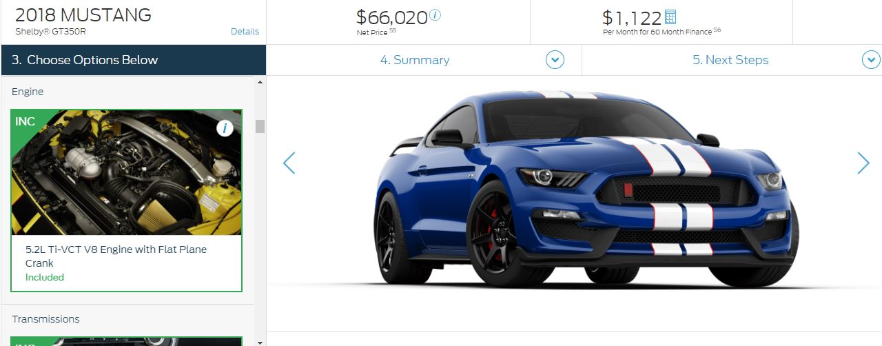 Build A Mustang >> 2018 Ford Mustang Configurator Is Live So That You May Now Build