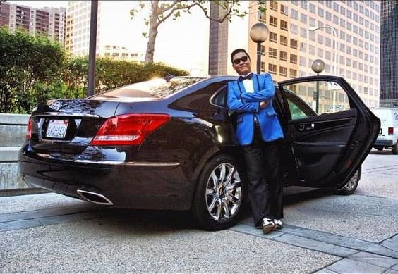 Celebrities who drive hyundai cars PSY