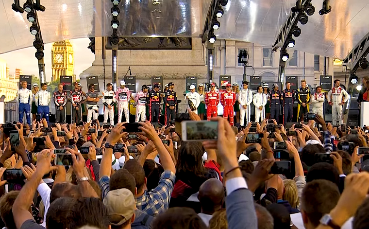 Drivers at F1 Live London