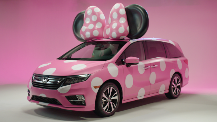 361cfb2ef5b Honda and Disney have teamed up to create a custom Odyssey based upon the  always-iconic Minnie Mouse