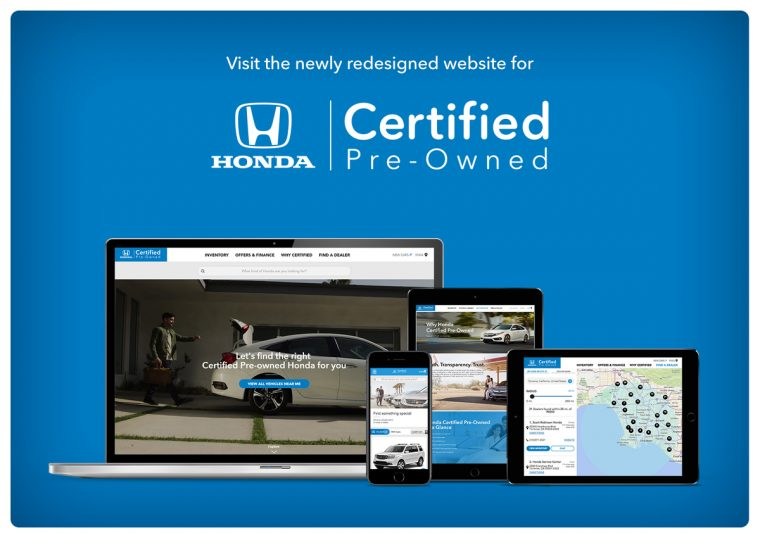 Honda Debuts New Website for Certified Pre-Owned Vehicles Offering Shoppers Refined Search Capability and a Seamless User Experience