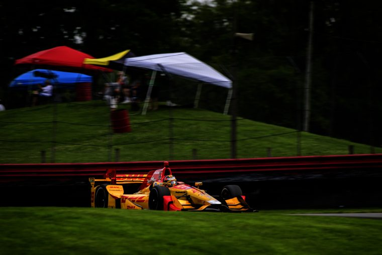 Ryan Hunter-Reay and his Andretti Autosport Honda were fastest Friday in practice for Sunday's Honda Indy 200.