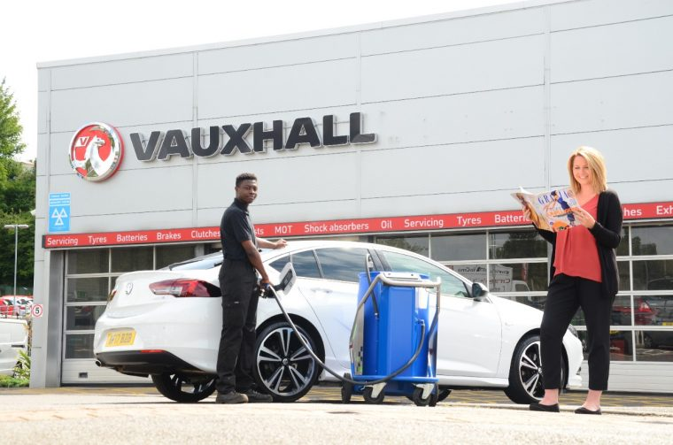 Vauxhall AdBlue fill up