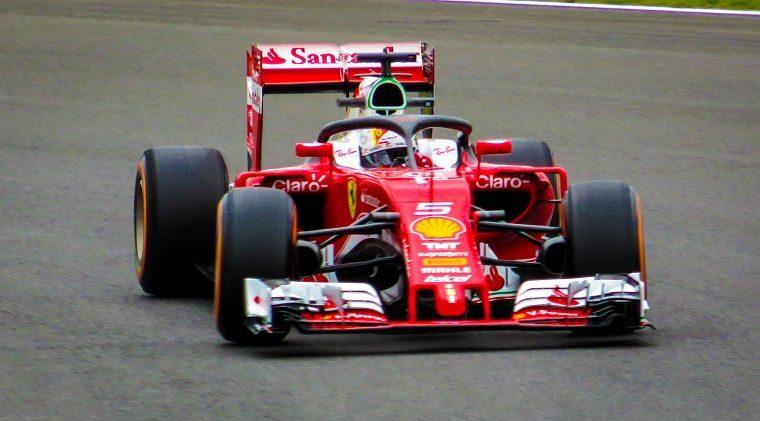 Vettel Testing Halo Device