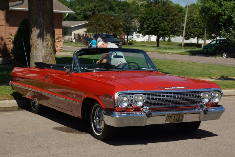1963 Red Chevrolet Impala Convertible