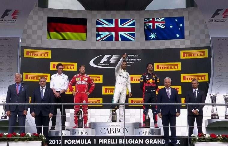 Vettel, Hamilton & Ricciardo on the podium