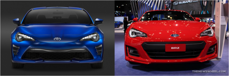The Most Noticeable Difference Between Subaru Brz And Toyota 86 Is Front Grille Design For Both Vehicles When Are Observed From