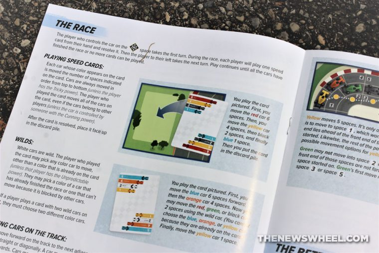 Downforce car racing board game review Restoration Games Wolfgang Kramer instructions directions