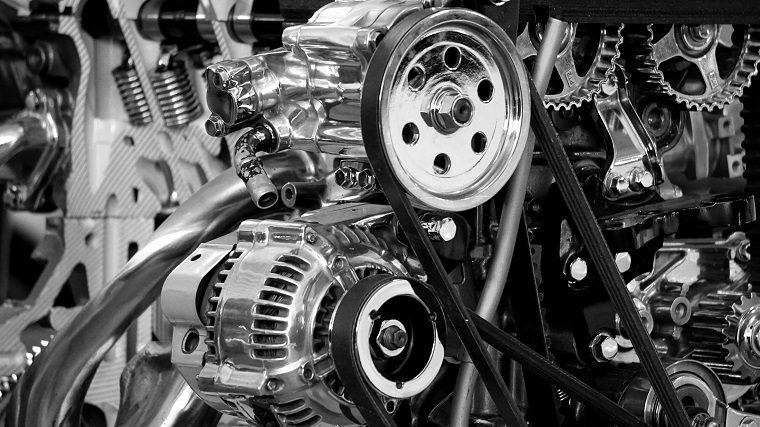 Engine in Greyscale