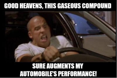 Fast and Furious Nitrous NOS explained vin diesel driving car engine motor fuel