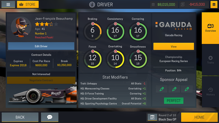 Motorsport Manager Mobile 2 - Driver View