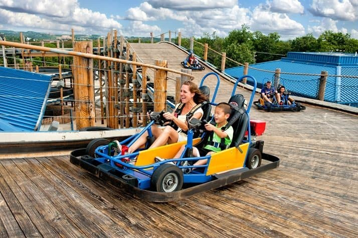 The Lumberjack go kart track Branson Missouri