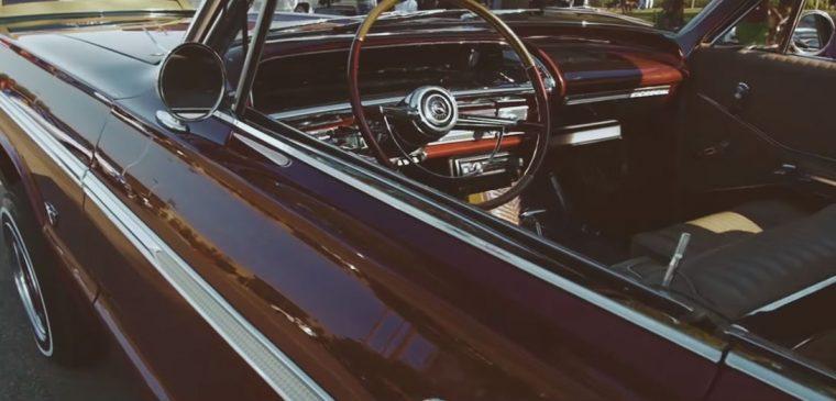 Wiz Khalifa Pull Up 1964 Maroon Chevrolet Impala Super Sport