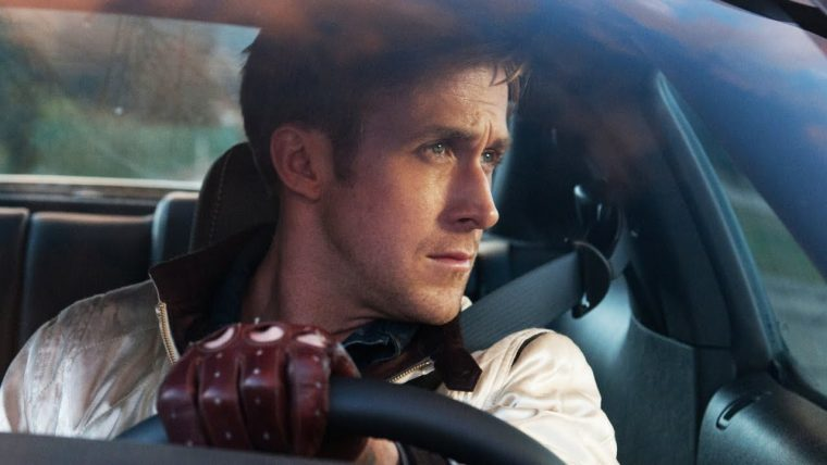 drive movie scene Ryan Gosling driving gloves steering wheel