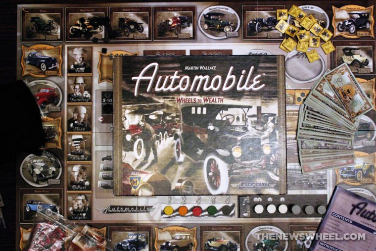 Automobile Wheels to Wealth Martin Wallace board game Mayfair manufacturing industry business strategy review
