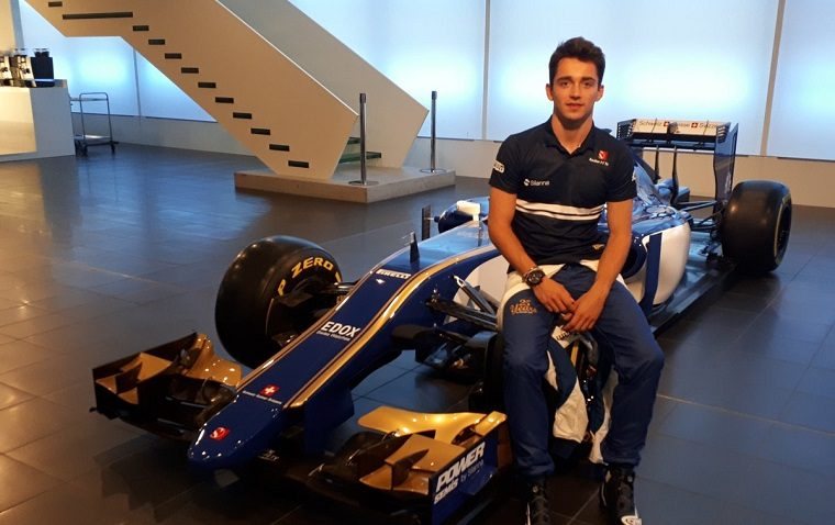 Charles Leclerc with Sauber