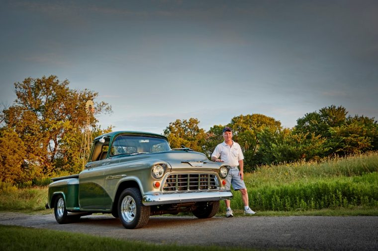 Chevy Truck Legends Member Dale with his 1955 3100 Series
