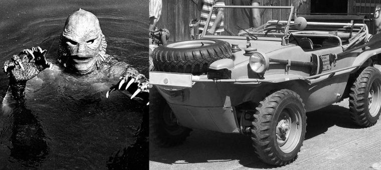 Classic monster movie character vehicle car Black Lagoon Halloween film