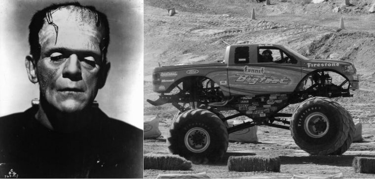 Classic monster movie character vehicle car Frankenstein Halloween film
