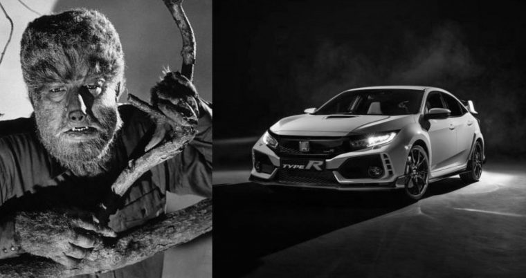 Classic monster movie character vehicle car Werewolf Halloween