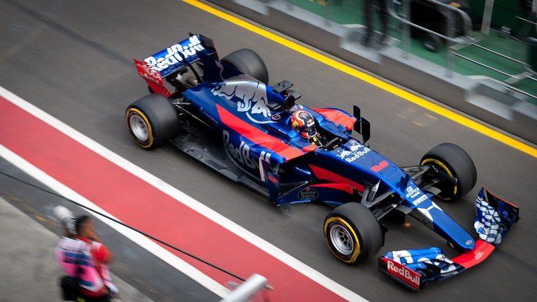 Danill Kvyat in Toro Rosso